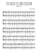 Téléchargez l'arrangement de la partition de chant-de-marin-the-maid-of-amsterdam en PDF à deux voix