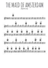 Téléchargez la partition pour saxophone en Mib de la musique chant-de-marin-the-maid-of-amsterdam en PDF