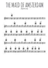Téléchargez la partition de la musique chant-de-marin-the-maid-of-amsterdam en PDF, pour flûte traversière