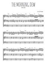 Téléchargez l'arrangement de la partition de irlande-the-morning-dew en PDF à trois voix
