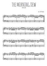 Téléchargez l'arrangement pour piano de la partition de irlande-the-morning-dew en PDF