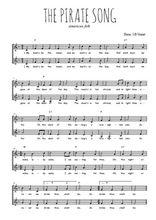 Téléchargez l'arrangement de la partition de chant-de-marins-the-pirate-song-la-chanson-du-pirate en PDF à deux voix