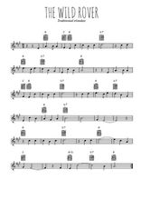 Téléchargez la partition en Sib de la musique irlande-the-wild-rover en PDF