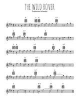 Téléchargez la partition pour saxophone en Mib de la musique irlande-the-wild-rover en PDF