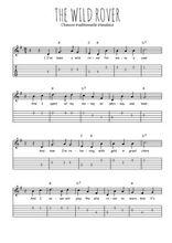 Téléchargez la tablature de la musique irlande-the-wild-rover en PDF