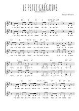 Téléchargez l'arrangement de la partition de theodore-botrel-le-petit-gregoire en PDF à deux voix
