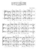 Téléchargez l'arrangement de la partition de theodore-botrel-le-petit-gregoire en PDF à trois voix