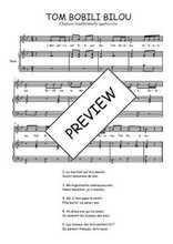Téléchargez la partition de Tom Bobili Bilou en PDF pour Chant et piano