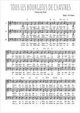 Téléchargez l'arrangement de la partition de Traditionnel-Tous-les-bourgeois-de-Chastres en PDF à trois voix