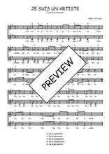 Téléchargez l'arrangement de la partition de Traditionnel-Je-suis-un-artiste en PDF à deux voix