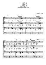 Téléchargez la partition de Lluba en PDF pour 2 voix égales et piano