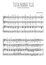 Téléchargez la partition de Tuta nana tgu en PDF pour 2 voix égales et piano
