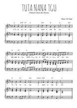 Téléchargez la partition de Tuta nana tgu en PDF pour Chant et piano