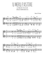 Téléchargez l'arrangement de la partition de chanson-corse-u-meru-pastore en PDF à deux voix