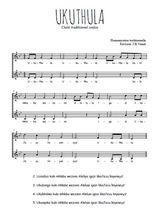 Téléchargez l'arrangement de la partition de Traditionnel-Ukuthula en PDF à deux voix