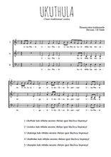 Téléchargez l'arrangement de la partition de Traditionnel-Ukuthula en PDF à trois voix