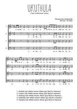 Téléchargez l'arrangement de la partition de Traditionnel-Ukuthula en PDF à quatre voix