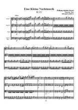 Une petite musique de nuit, quatuor à cordes (2) Partition gratuite