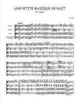 Une petite musique de nuit, quatuor à cordes Partition gratuite