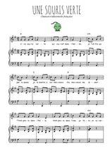 Téléchargez la partition de Une souris verte en PDF pour Chant et piano