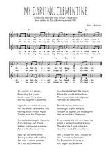 Téléchargez l'arrangement de la partition de Traditionnel-My-Darling-Clementine en PDF à deux voix