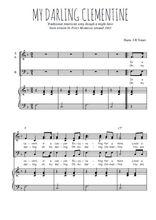 Téléchargez la partition de My Darling Clementine en PDF pour 3 voix SAB et piano