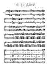 Téléchargez la partition de Choeur des gitans en PDF pour 2 voix égales et piano