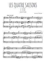Téléchargez la partition de Les quatre saisons, L'été en PDF pour Mélodie et piano