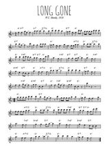 Téléchargez la partition pour saxophone en Mib de la musique w-c-handy-long-gone-blues-1920 en PDF