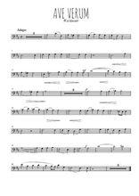Téléchargez la partition de mozart-ave-verum-kv618 en clef de fa