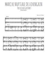 Téléchargez la partition de Marche nuptiale de Lohengrin en PDF pour 2 voix égales et piano