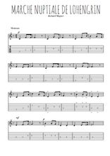 Téléchargez la tablature de la musique Richard-Wagner-Marche-nuptiale-de-Lohengrin en PDF