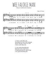 Téléchargez l'arrangement de la partition de Traditionnel-Wee-Falorie-Man en PDF à deux voix