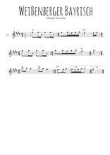 Téléchargez la partition pour saxophone en Mib de la musique baviere-weissenberger-bayrisch en PDF