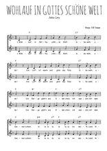 Téléchargez l'arrangement de la partition de chanson-allemande-wohlauf-in-gottes-schone-welt en PDF à deux voix