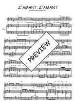 Téléchargez la partition de Z'amant, z'amant en PDF pour Chant et piano