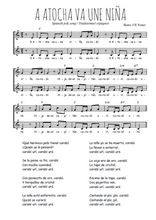 Téléchargez l'arrangement de la partition de Traditionnel-A-Atocha-va-una-nina en PDF à deux voix