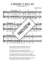 Téléchargez l'arrangement de la partition de Traditionnel-A-beggin--I-will-go en PDF à deux voix