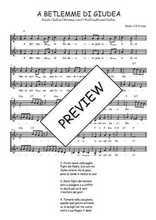 Téléchargez l'arrangement de la partition de Traditionnel-A-Betlemme-di-Giudea en PDF à deux voix