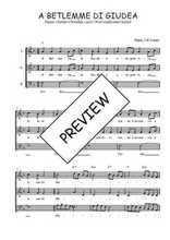 Téléchargez l'arrangement de la partition de Traditionnel-A-Betlemme-di-Giudea en PDF à trois voix