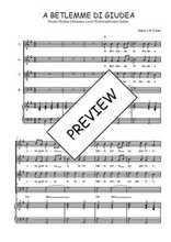 Téléchargez la partition de A Betlemme di Giudea en PDF pour 4 voix SATB et piano