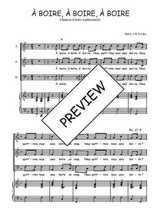 Téléchargez la partition de A boire, à boire, à boire en PDF pour 3 voix SAB et piano