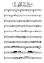 Téléchargez la partition de la musique yiddish-a-brivele-der-mame en PDF, pour violon