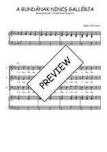 Téléchargez la partition de A bundának nincs gallérja en PDF pour 3 voix SAB et piano