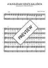 Téléchargez la partition de A bundának nincs gallérja en PDF pour 4 voix SATB et piano