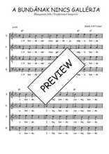 Téléchargez l'arrangement de la partition de Traditionnel-A-bundanak-nincs-gallerja en PDF à quatre voix
