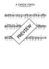 Téléchargez l'arrangement de la partition de Traditionnel-A-canoa-virou en PDF à deux voix