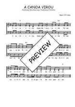Téléchargez l'arrangement de la partition de Traditionnel-A-canoa-virou en PDF à trois voix
