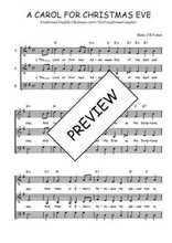 Téléchargez l'arrangement de la partition de Traditionnel-A-carol-for-Christmas-eve en PDF à trois voix