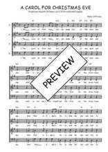 Téléchargez l'arrangement de la partition de Traditionnel-A-carol-for-Christmas-eve en PDF à quatre voix